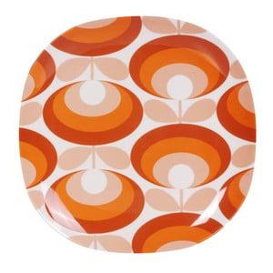 Farfurie Orla Kiely Flower, portocaliu - alb