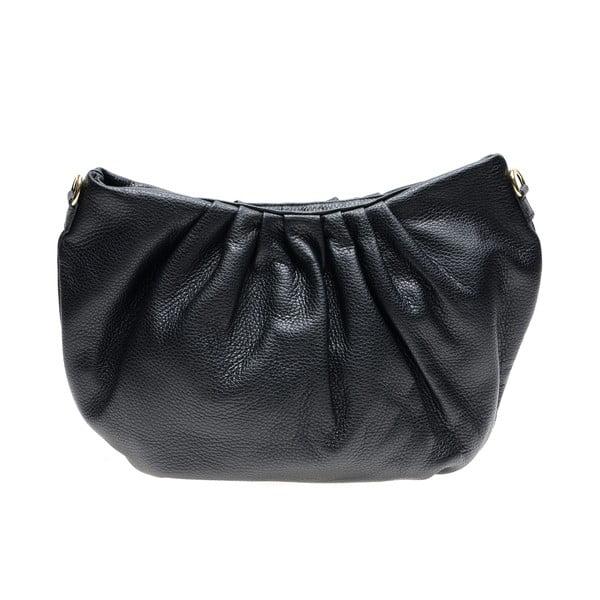 Černá kožená taška přes rameno Carla Ferreri