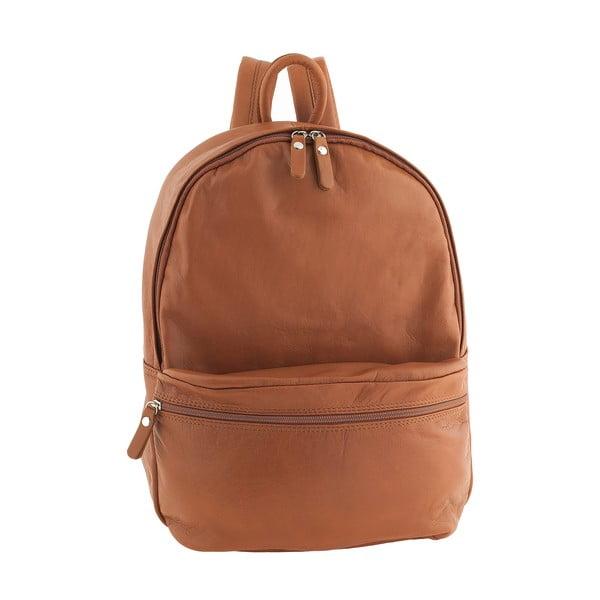 Medově hnědý kožený batoh Ore Diece Rovigo