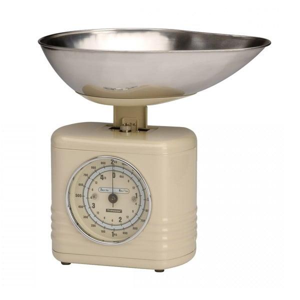 Krémová kuchyňská váha Typhoon Vintage