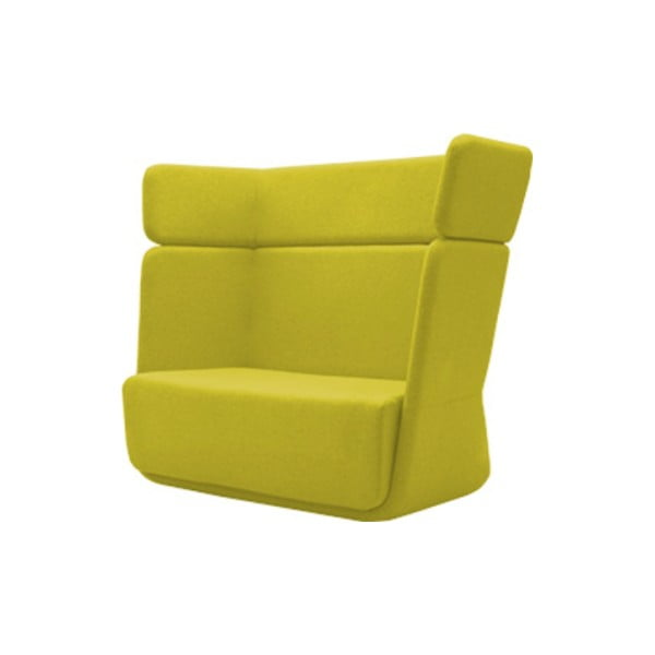 Żółty fotel Softline Basket Felt Melange Yellow