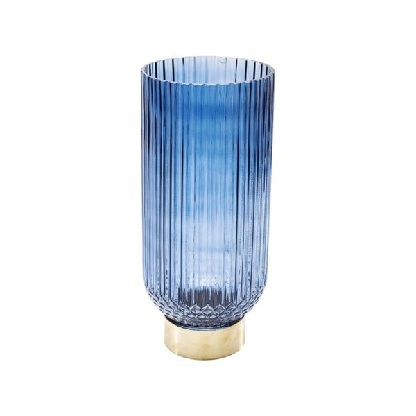 Barfly Blue kék váza, 34 cm - Kare Design