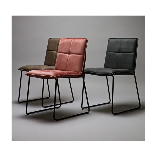 Sada 2 červených židlí WOOOD Evan
