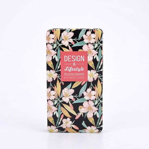 Plechový zápisník Garden, černý