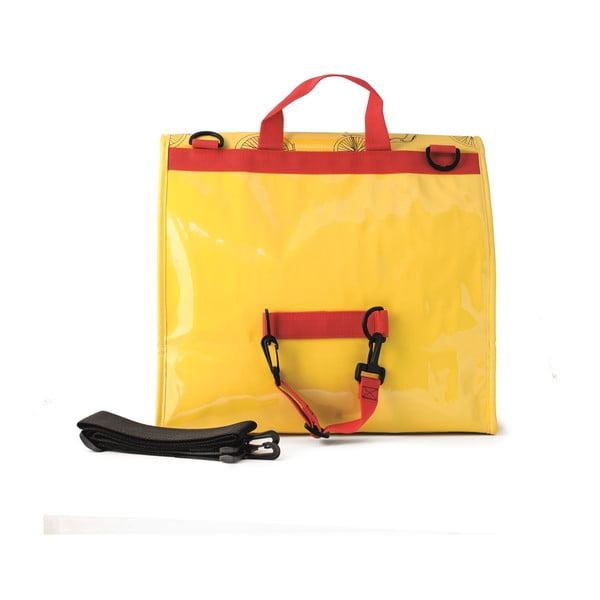 Messenger taška na kolo I ♥ Bicicleta, žlutá