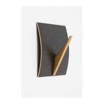 Cuier de perete din lemn masiv Woodman Rack Black Oak de la Woodman