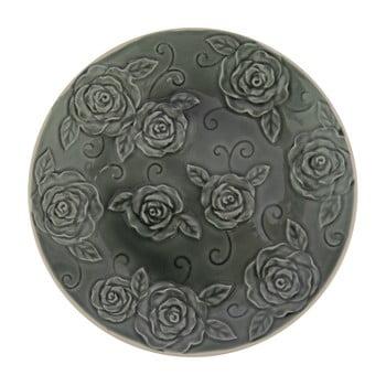 Farfurie decorativă Antic Line Roses, ⌀ 25,5 cm, verde închis