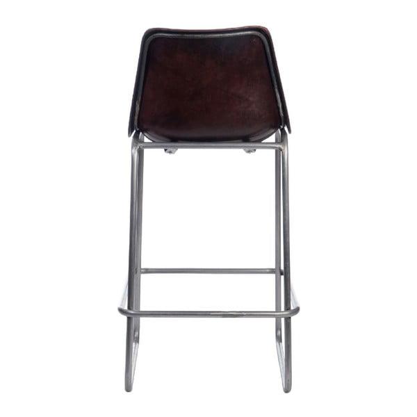 Barová stolička Leather Dark Brown, 45x42x101 cm