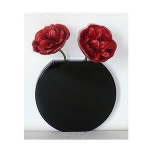 Nástěnná váza Vanity Round Black