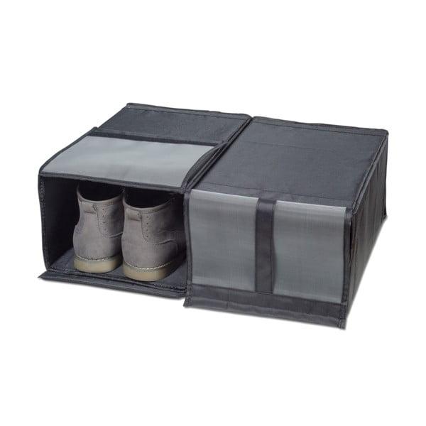 Sada 2 textilních úložných boxů na boty Jocca, 34x22cm