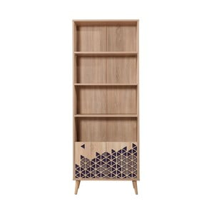 Knihovna Booki Blue, 198 x 75 cm