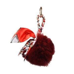 Tmavě červený přívěšek na kabelku Matilde Costa Baja