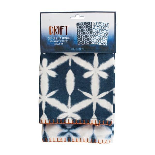 Sada 2 modrých ubrousků z bavlny Creative Tops