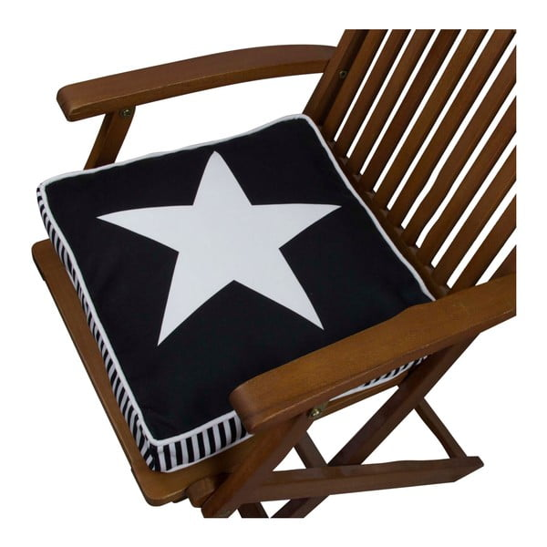 Pernă pentru scaun Gravel Star B&W, 42x42cm,cuumplutură