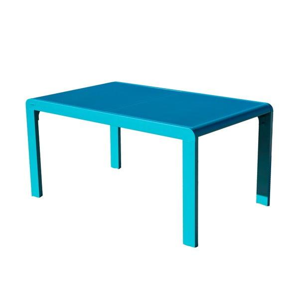 Tyrkysový zahradní stůl pro 4-6 osob Ezeis Lineal
