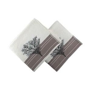 Set 2 prosoape Infinity, 50 x 90 cm, alb
