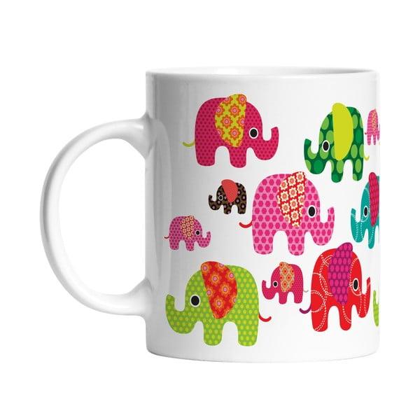Keramický hrnek Elephants in Love, 330 ml