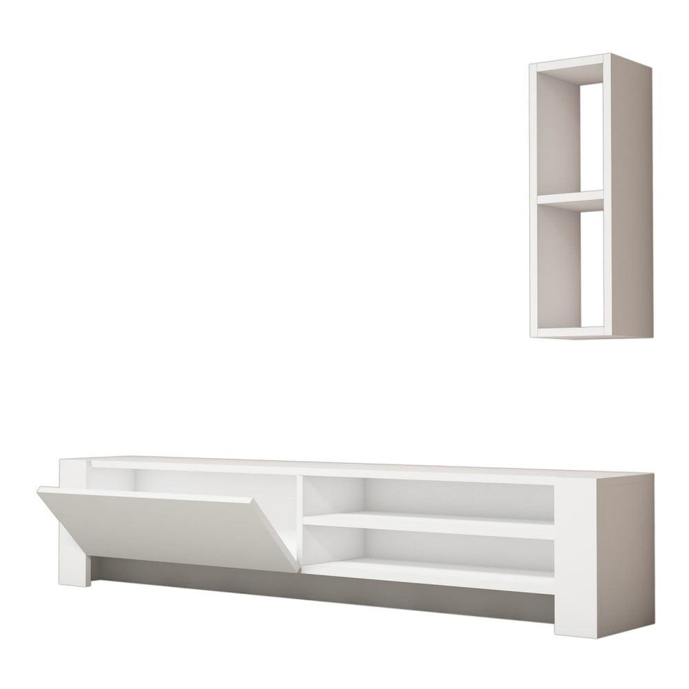 Bílý TV stolek Naz