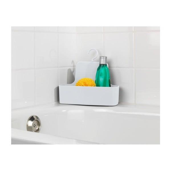 Bílá závěsná polička do sprchy Wenko Barcelona