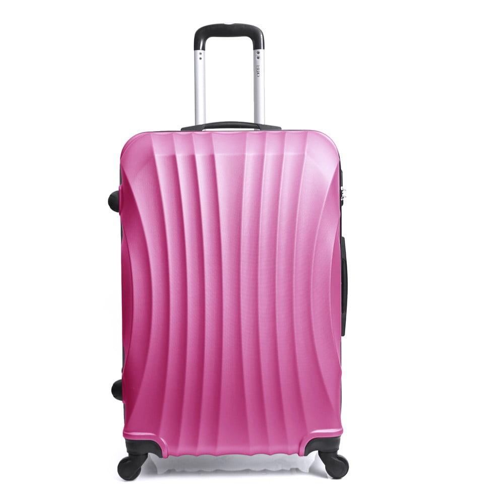 Růžový cestovní kufr na kolečkách Hero Moscou-e, 30 l