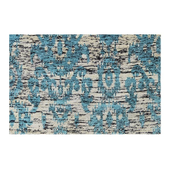 Vlněný koberec Bakero Ikat Turquoise, 120x180cm