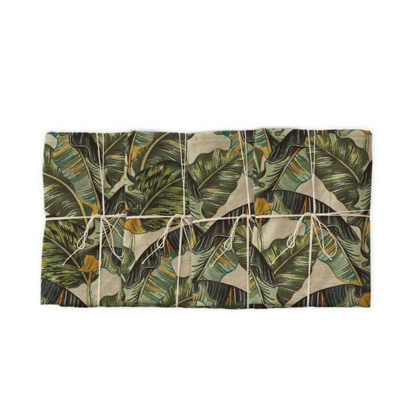 Banana 4 db szövet szalvéta lenkeverékkel, 43 x 43 cm - Linen Couture