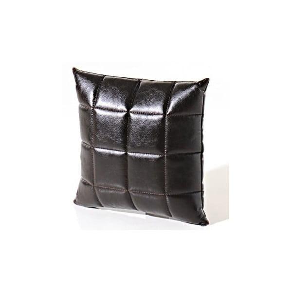 Polštář Bakero Squares z umělé kůže, 45x45 cm