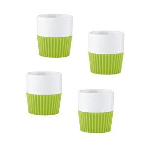 Sada espresso Confetti, 4 ks, zelená