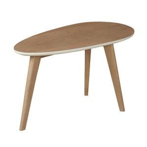 Odkládací stolek z masivního mangového dřeva Woodjam Play Light Egg