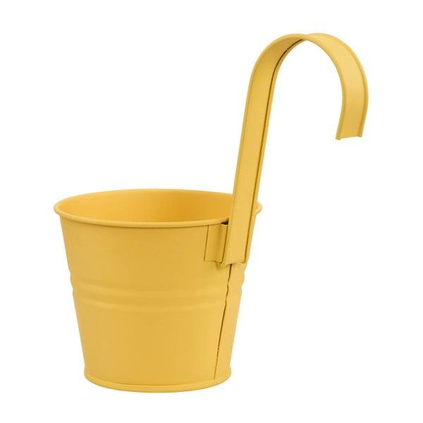 Žlutý závěsný květináč Butlers Zinc, Ø13cm