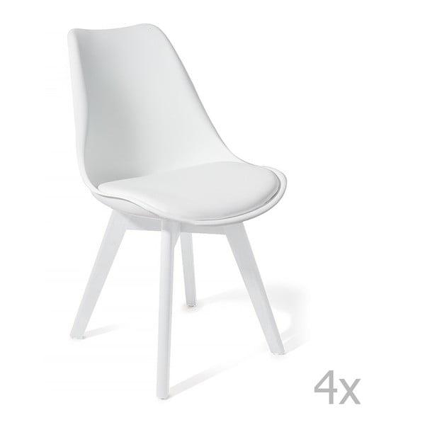 Sada 4 bielych jedálenských stoličiek Tomasucci Kiki Evo
