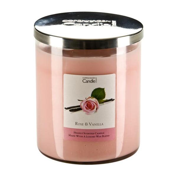 Aroma svíčka Copenhagen Candles  Rose & Vanilla, doba hoření 70 hodin