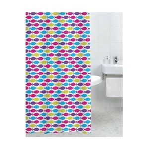 Sprchový závěs Happy Fish, 180x180 cm