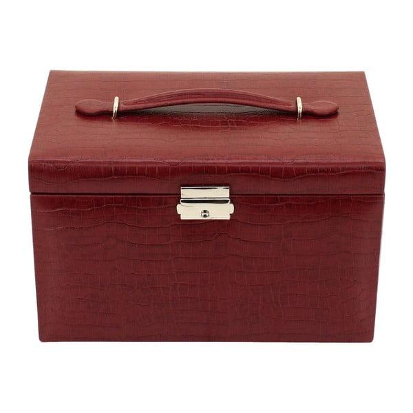 Šperkovnice Classico Red, 24x15x16 cm