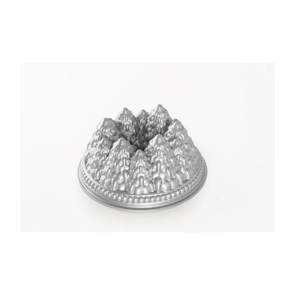 Forma na babkę w srebrnym kolorze Nordic Ware Pines, 2,1l