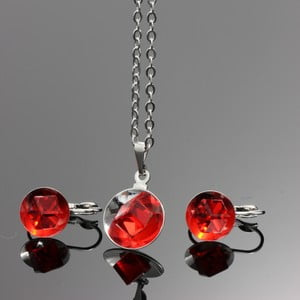 Set Swarovski Elements Bijouterie Red