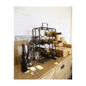 Černý stojan na 12 lahví vína Orchidea Milano Living