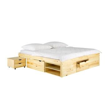 Pat din lemn de pin SOB Pintea, 140 x 200 cm