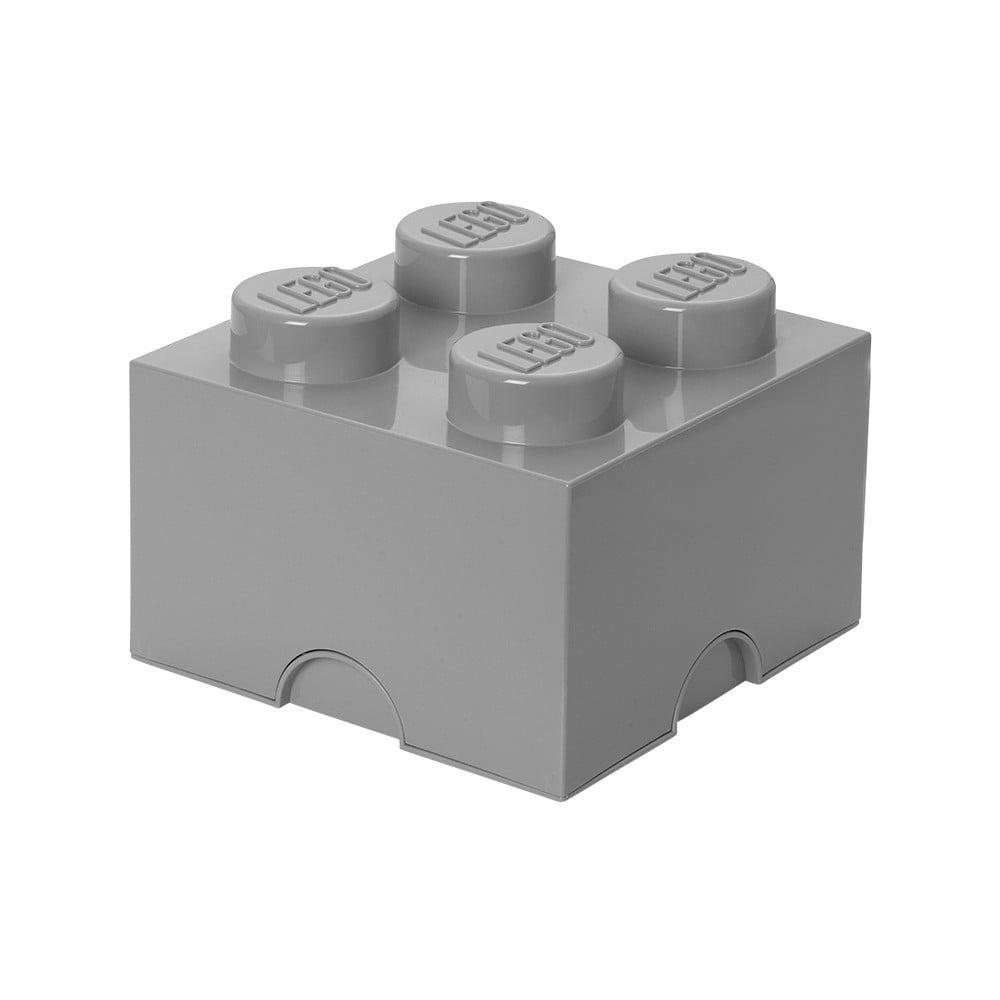 Šedá úložná kostka LEGO®