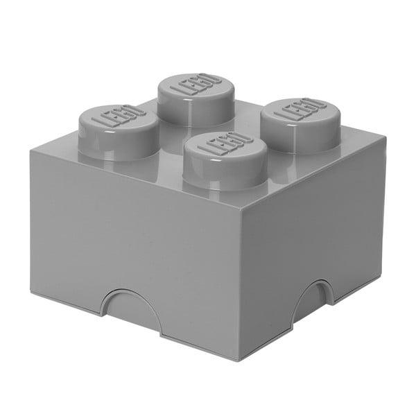 Sivý úložný box štvorec LEGO®