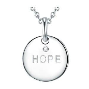 Stříbrný náhrdelník s pravým diamantem Tess Diamonds Hope, délka70cm