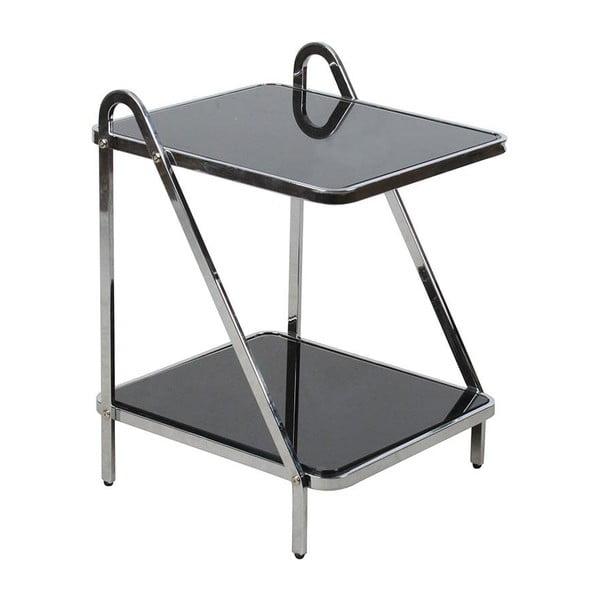 Dvoupatrový odkládací stolek Glass Metal
