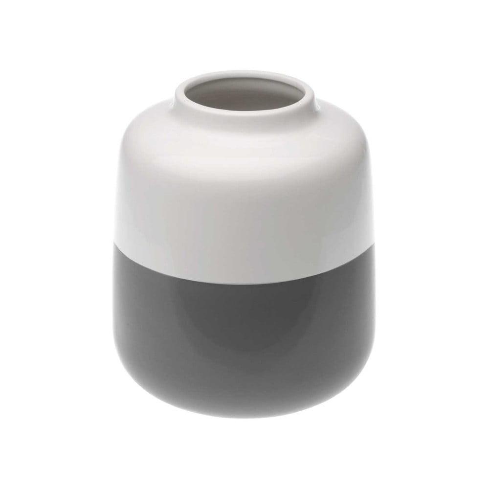 Šedobílá keramická váza Versa Turno, výška 18,5 cm