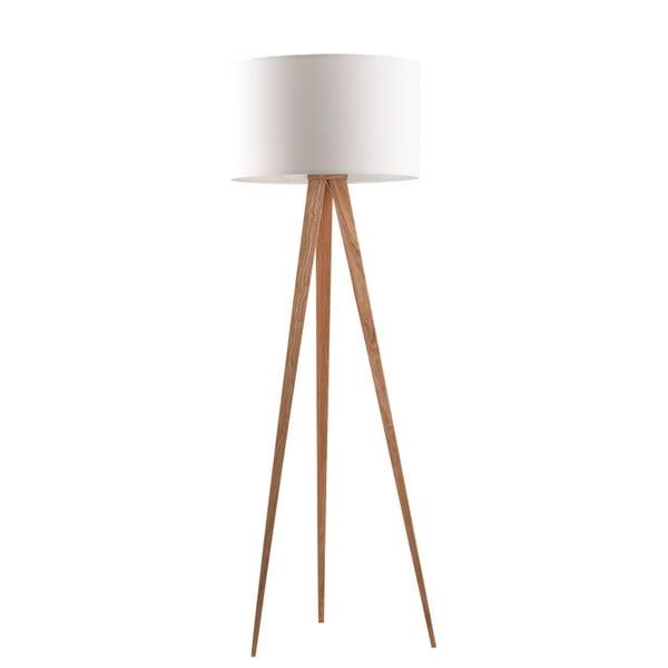 Bílá stojací lampa Zuiver Tripod Wood