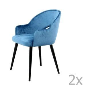 Sada 2 modrých jídelních židlí 360 Living Veit