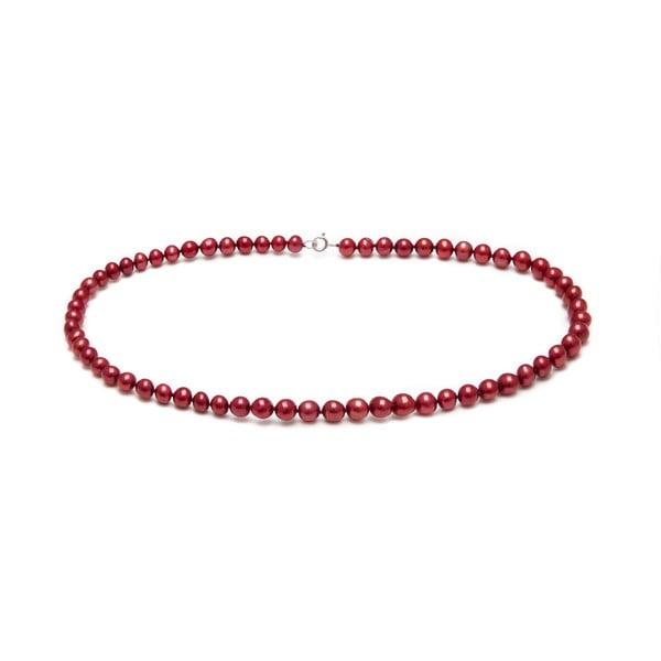 Náhrdelník z říčních perel Freshwater, červený