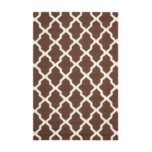 Vlněný koberec Safavieh Ava Brown, 274 x 182 cm