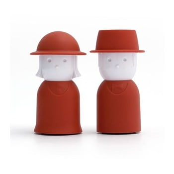 Solniță și piperniță Qualy Mr. Pepper &Mr. Salt, roșu de la Qualy