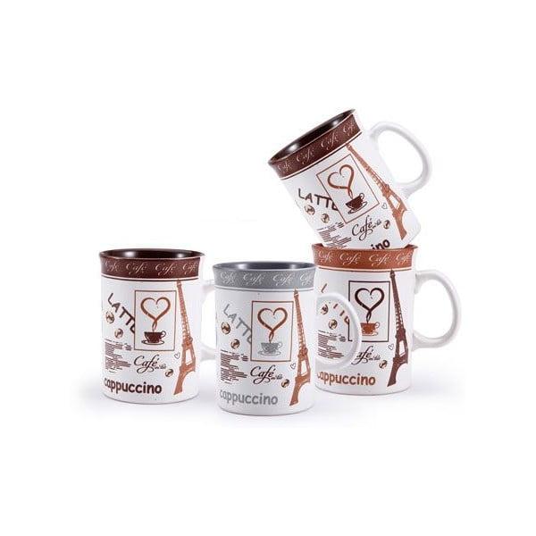 Set hrnků Cappuccino se stojanem, 5 ks