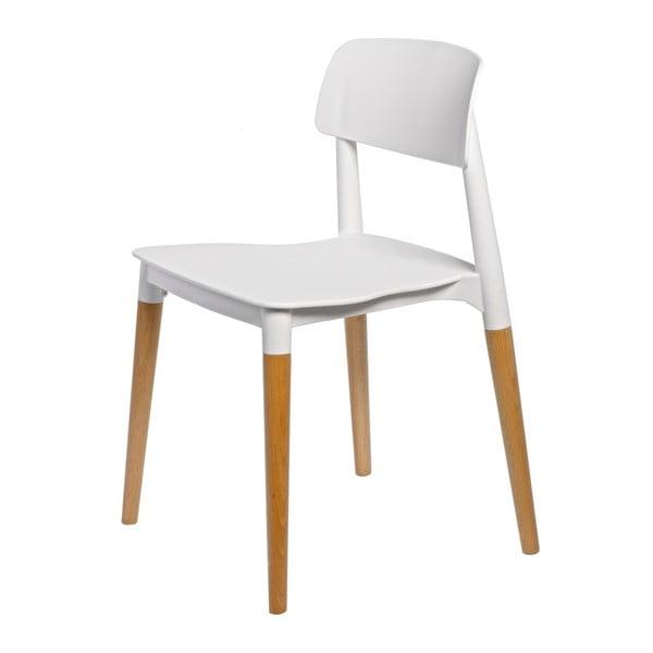 Sada 2 bílých židlí D2 Base